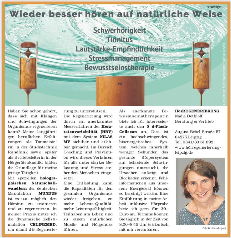 Artikel Im ERFAHRUNGSSCHATZ Herbst 2018, Der Leipziger Rundschau Vom 14.11.2018.